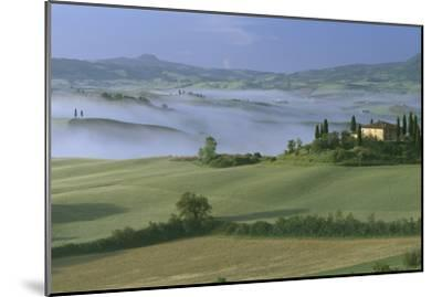 Misty Morning at the 'Belvedere', Val D' Orcia, Tuscany-Joe Cornish-Mounted Photographic Print