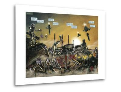 Zombies vs. Robots: No. 7 - Page Spread-Valentin Ramon-Metal Print