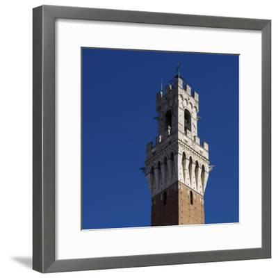 Siena Architectural Detail of Crenellated Tower-Mike Burton-Framed Photographic Print