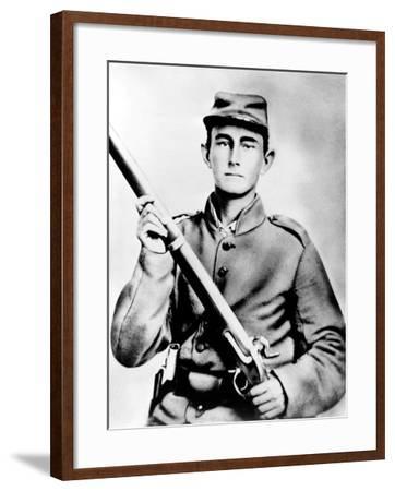 Enoch Hooper Cook, Jr., Pvt, Co. H. 38th Alabama Infantry, C.S.A.--Framed Photo