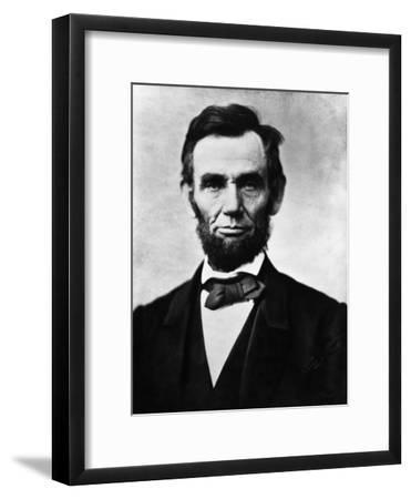 Abraham Lincoln, 1863-Alexander Gardner-Framed Photo