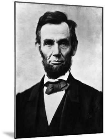 Abraham Lincoln, 1863-Alexander Gardner-Mounted Photo