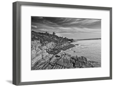 Cliff Walk Newport Rhode Island B/W--Framed Photo