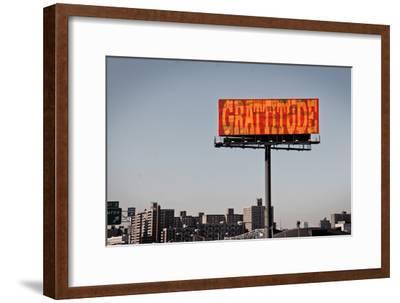 Gratitude Billboard in NYC--Framed Photo