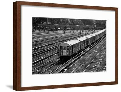 Subway 7 Train Queens NYC--Framed Photo