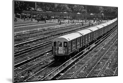 Subway 7 Train Queens NYC--Mounted Photo