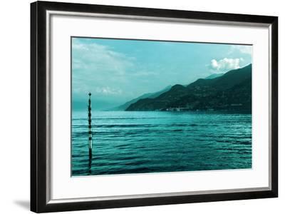 Buoy in Lake Como Near Bellagio Italy--Framed Photo