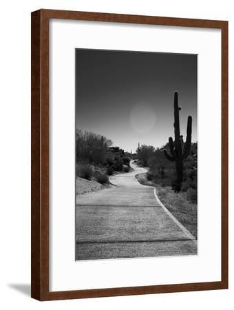 Cart Path on Desert Golf Course Arizona--Framed Photo