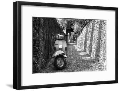 Vespa In Alley Amalfi, Italy--Framed Photo
