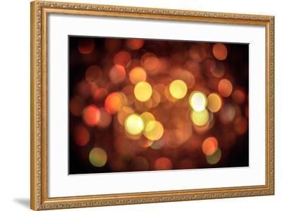 Red and Orange Lights--Framed Photo