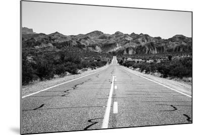 Desert Road in Arizona--Mounted Photo