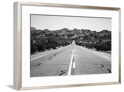 Desert Road in Arizona--Framed Photo