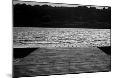 Dock in Montauk NY--Mounted Photo