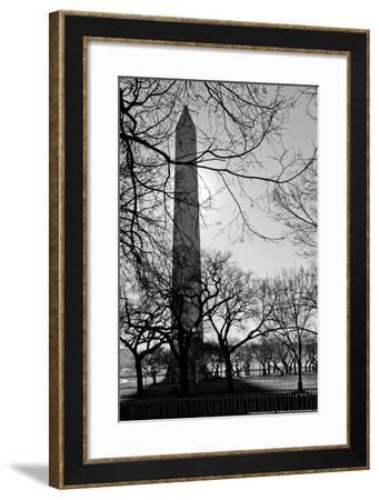 Washington Monument Black and White DC--Framed Photo