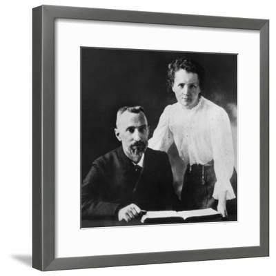 Pierre Curie and Marie Sklodowska Curie (1867-1934), C. 1903--Framed Photo