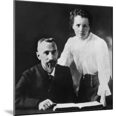 Pierre Curie and Marie Sklodowska Curie (1867-1934), C. 1903--Mounted Photo