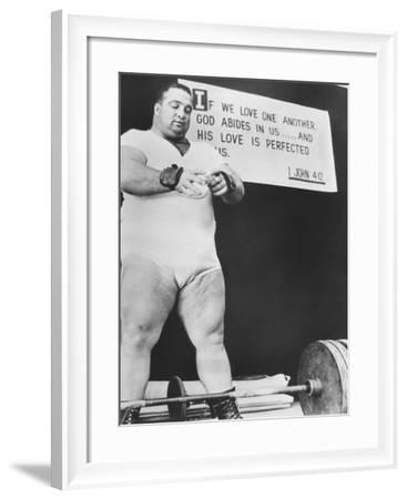 Paul Anderson, Performed at Weight Lifting and Strength Exhibitions--Framed Photo