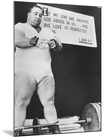 Paul Anderson, Performed at Weight Lifting and Strength Exhibitions--Mounted Photo