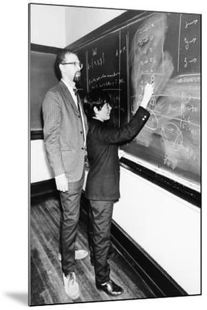 Professor Harry Dym, Works with His 12 Year Old Student, Matthew Marcus at New York City College--Mounted Photo