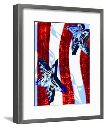 Patriotic Stars and Stripes with Numbers--Framed Photographic Print