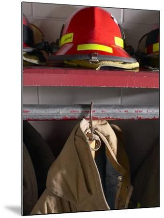 Firefighting Gear--Mounted Photographic Print