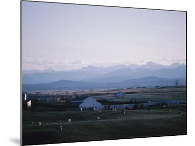 Farm in Mountain Valley - Rockies, Calgary, Banff--Mounted Photographic Print