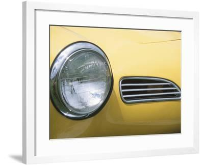 Headlight in Yellow Car--Framed Photographic Print