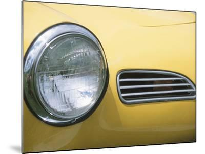 Headlight in Yellow Car--Mounted Photographic Print
