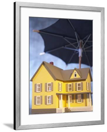 Beautiful Home Under an Umbrella--Framed Photographic Print