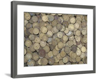 A Large Pile of Old Golden Coins--Framed Photographic Print