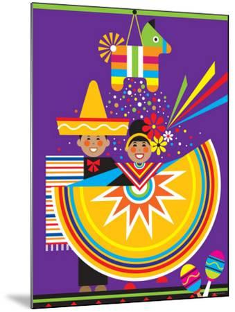 Traditional Mexican Cultural Celebration with Pinata--Mounted Photographic Print