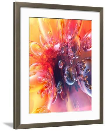 Abstract Vibrant Colorful Bubbles--Framed Photographic Print