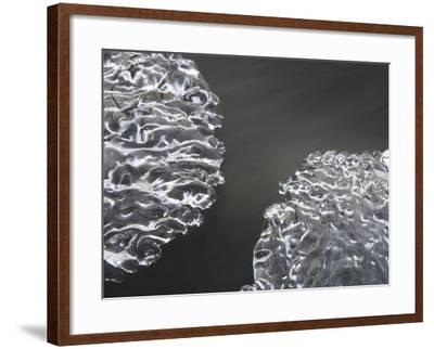 Close-up of Cold Flowing Water with Thin Sheets of Ice--Framed Photographic Print