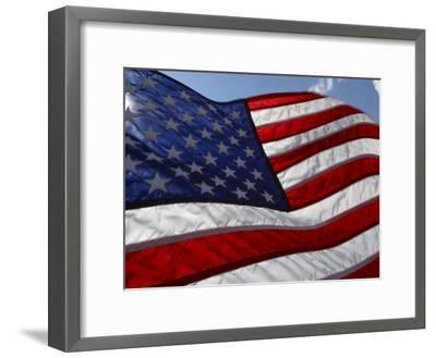 Close-up of American Flag--Framed Photographic Print