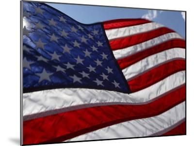 Close-up of American Flag--Mounted Photographic Print