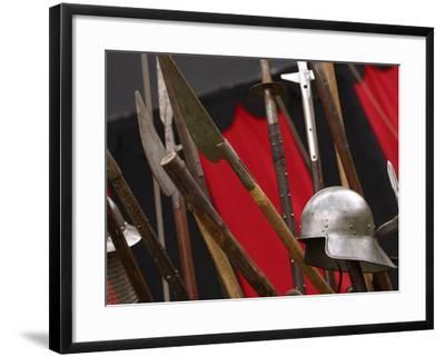 Swords and Helmet--Framed Photographic Print