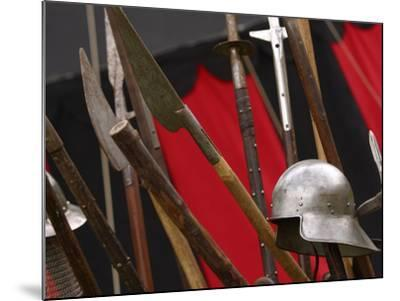 Swords and Helmet--Mounted Photographic Print