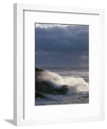 Waves Crashing on a Shore--Framed Photographic Print