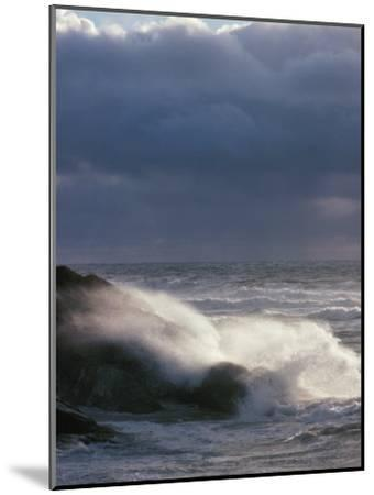 Waves Crashing on a Shore--Mounted Photographic Print