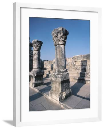 Beautiful Carved Stone Pillars--Framed Photographic Print