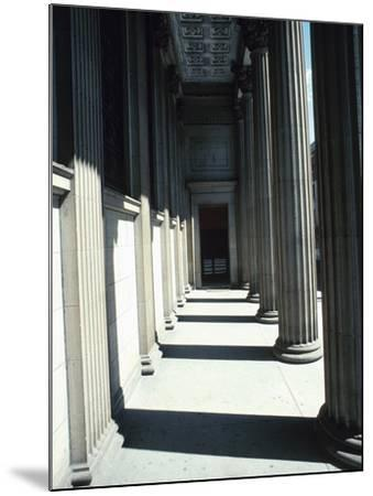 Pillar Lined Walkway - Architecture Montreal--Mounted Photographic Print