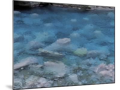 Raindrops on the Surface of a Flowing River--Mounted Photographic Print