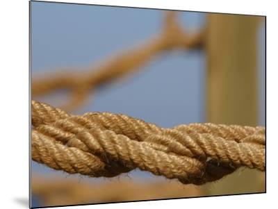Braided Nautical Rope--Mounted Photographic Print