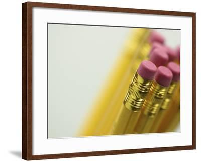 Detail of Pencil Erasers--Framed Photographic Print