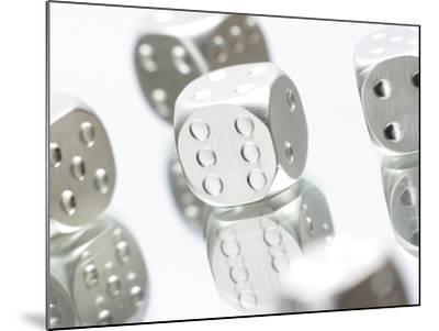 Metallic Dice--Mounted Photographic Print