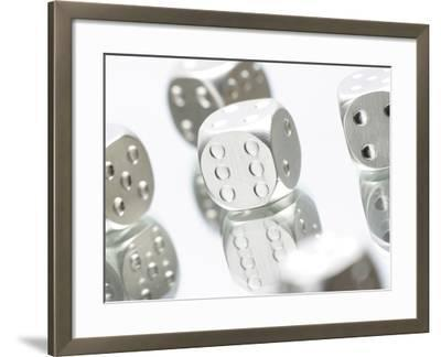 Metallic Dice--Framed Photographic Print