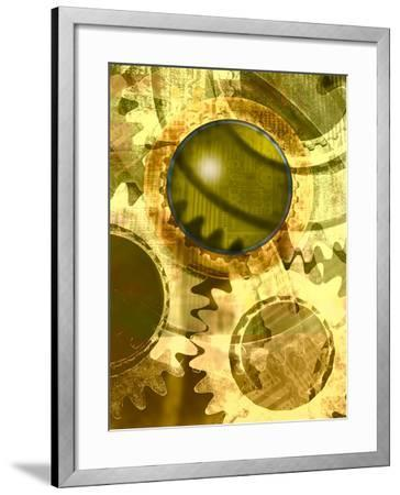 Machine Cogs--Framed Photographic Print