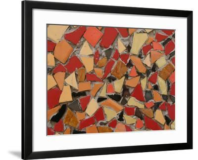 Close-up of Bright Pieces of Tile in a Colorful Mosaic--Framed Photographic Print