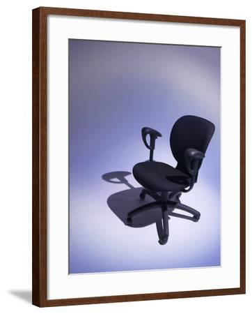 Comfortable Black Office Chair--Framed Photographic Print