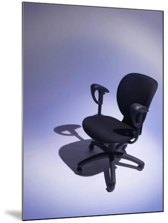 Comfortable Black Office Chair--Mounted Photographic Print